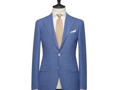 Veste à poix, 2 boutons – Bleuet